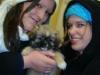Natalie und Diana bei der Abholung von Naisah in Norwegen